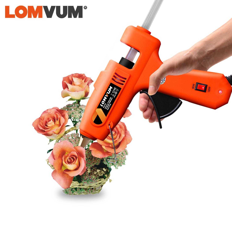 LOMVUM 80W Mini Hot Glue Tool Gu*n With 15pcs FREE Glue Sticks for Home Quick Repairs DIY Small Projects Arts Crafts