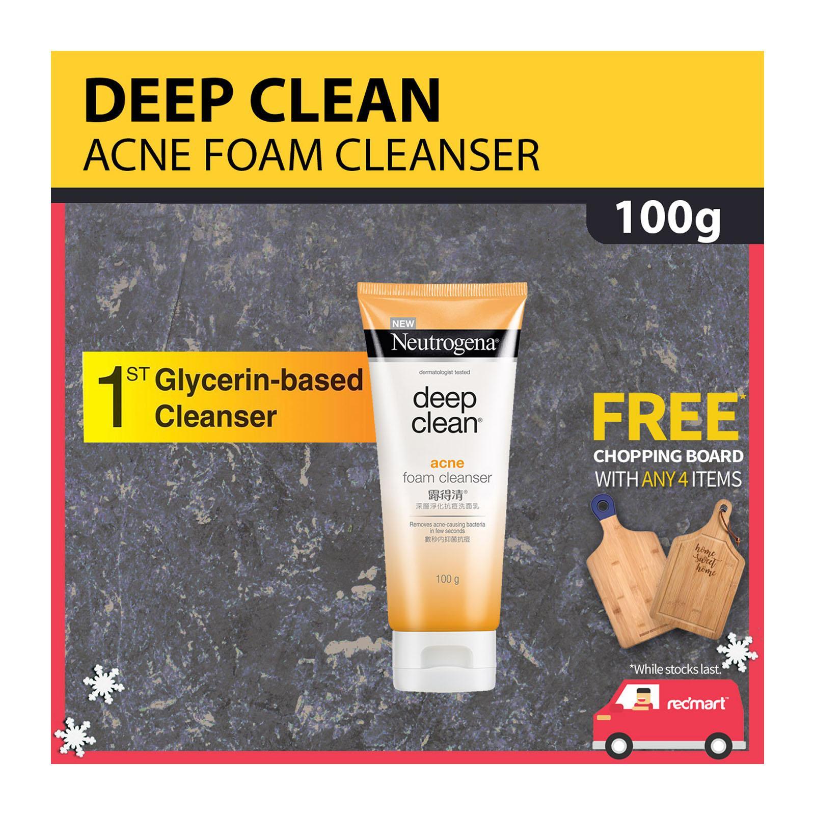 NEUTROGENA deep clean® acne foam cleanser 100g