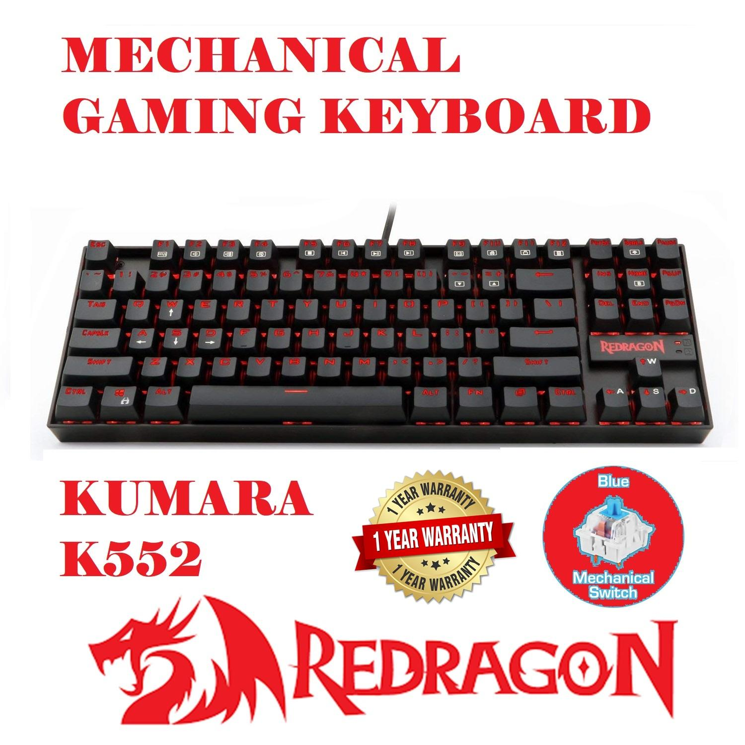 Redragon Kumara K552 Mechanical Gaming Keyboard (Single BackLight)