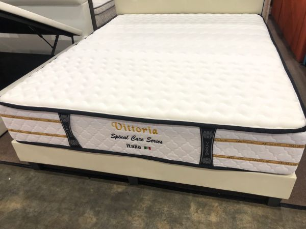 Vittoria Spinal Care Individual Pocket Spring Mattress with Contemporary Bed