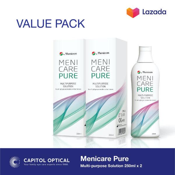 Buy Menicare Pure Multipurpose GP Lens Solution 250 ml (2 pack) Singapore