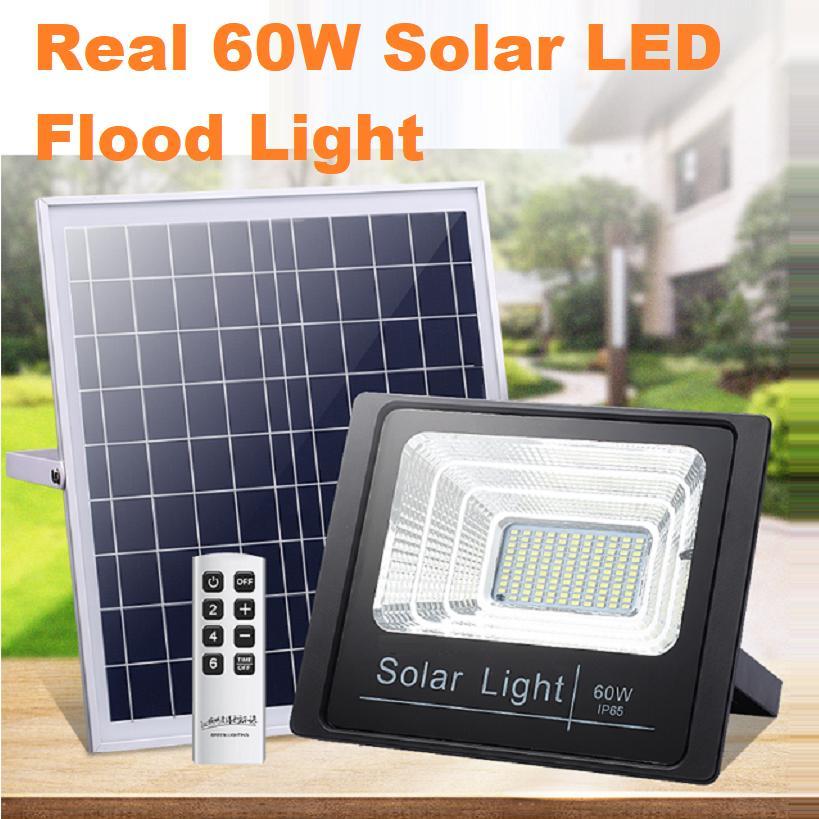 Real 60W Solar LED Flood Light - Warranty 2 years
