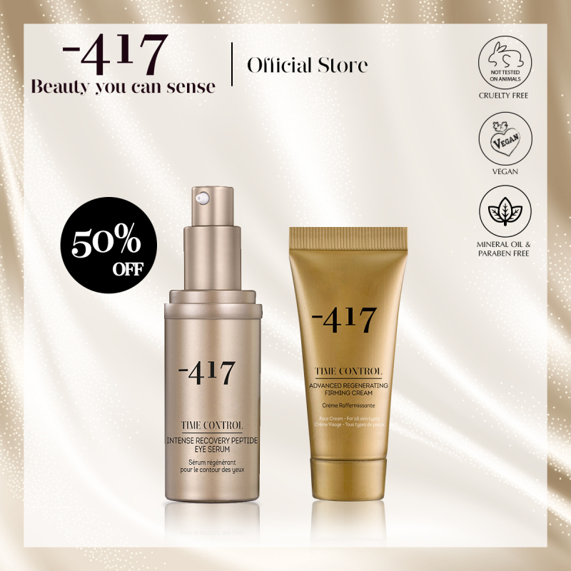 Buy Minus 417 Anti-Ageing Firming Set - Intense Recovery Peptide Eye Serum 30ml with Advanced Regenerating Firming Cream 20ml (Anti-Ageing + Hydrating) Singapore