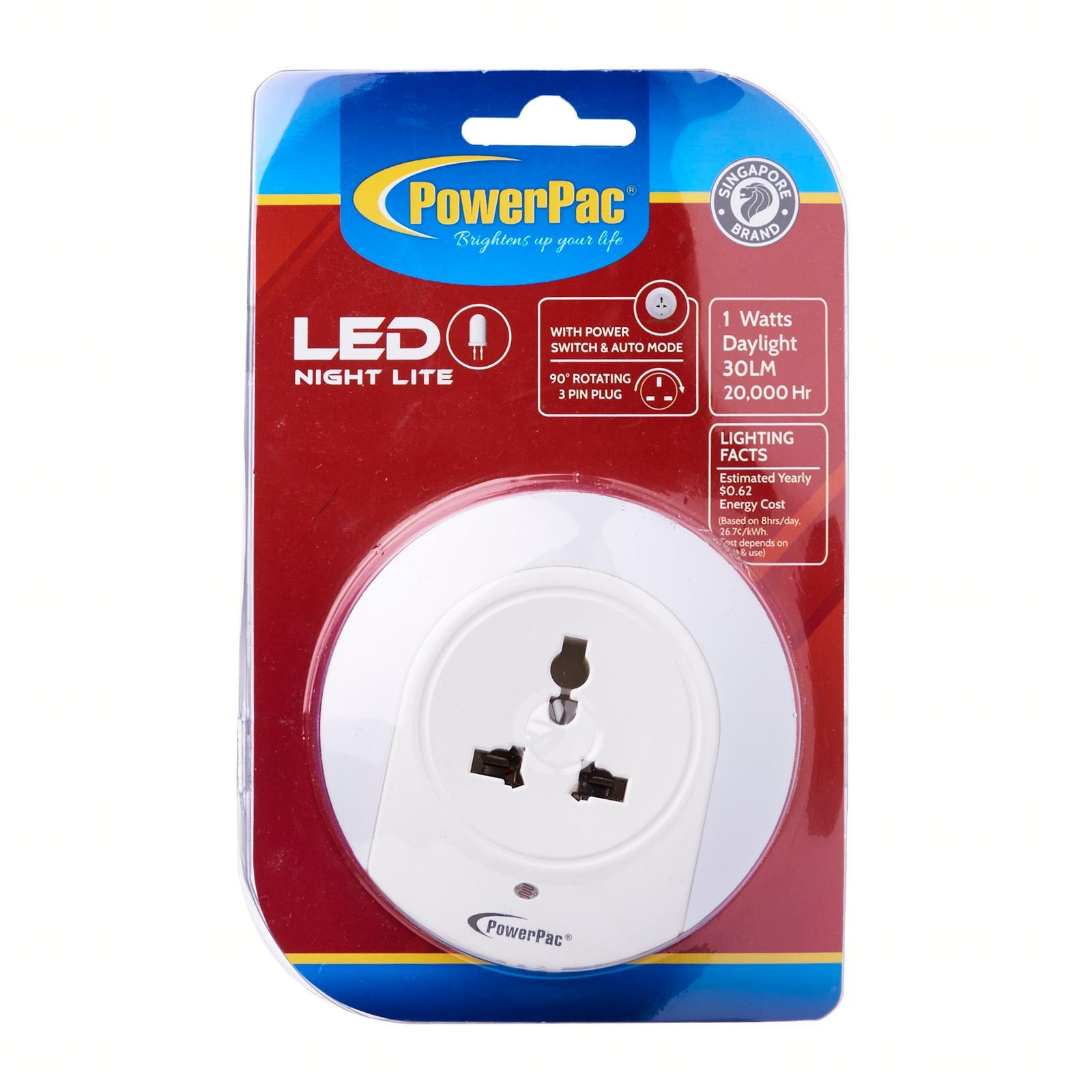 PowerPac LED Night Light With Power Switch And Auto Mode (MC72)