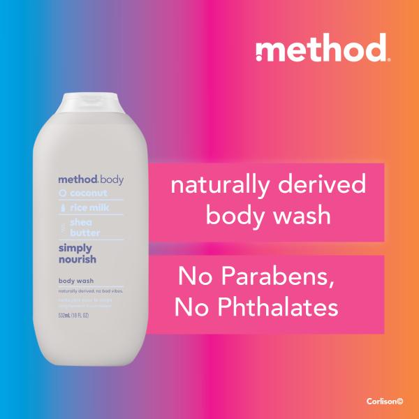 Buy method body wash - simply nourish 532ml Singapore