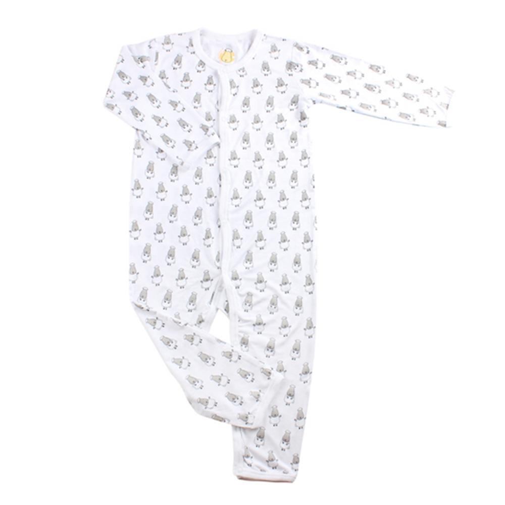 104c751d455 Baa Baa Sheepz Romper Small Star & Sheepz White
