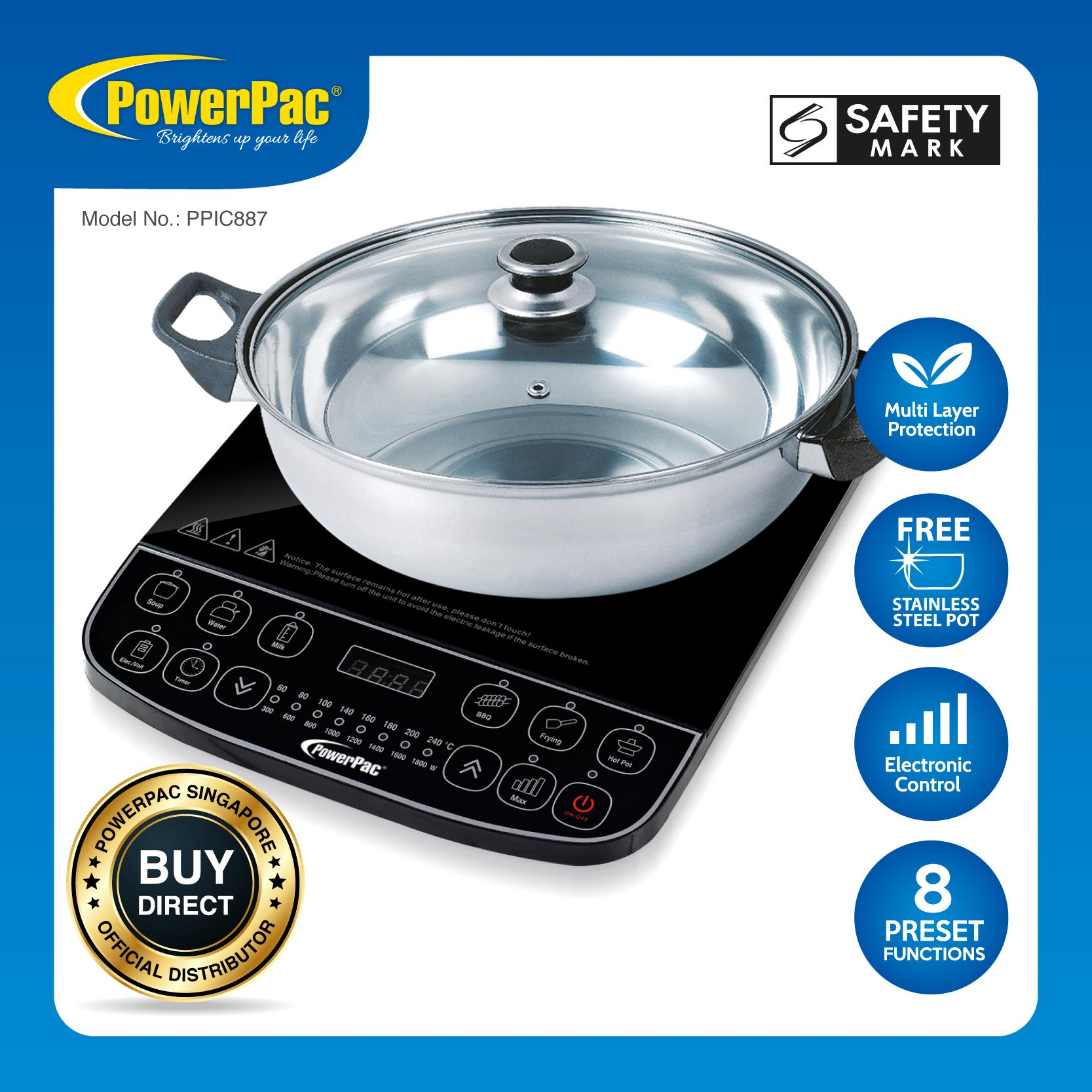 Powerpac Induction Cooker Steamboat With Stainless Steel Pot (ppic887) By Powerpac.