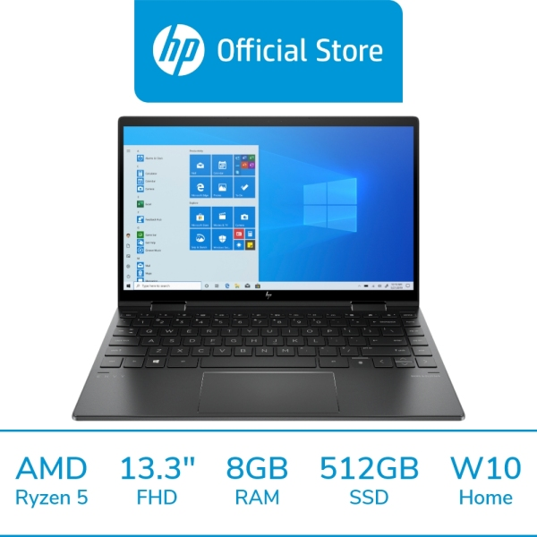 HP ENVY x360 Laptop - 13-ay0008auAMD Ryzen™ 5 4500U / 8GB RAM / 512GB SSD / 13.3 FHD / Win 10 / 2 Years Warranty + 1 Years ADP / Free 1 Mth McAfee LiveSafe Trial / Long Battery Life / Micro-Edge Display