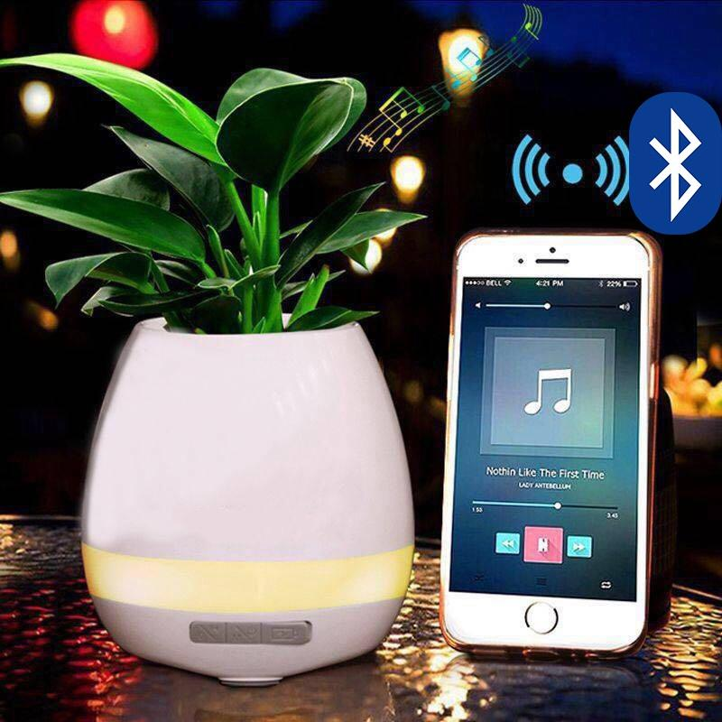 Magic Music Flower Pot  Bluetooth Speaker  Multi-color Light  Smart Flower Pot Gift /Present