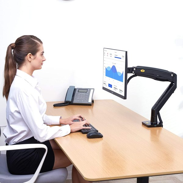 North Bayou (NB) Monitor Arm (Single Screen/Desk mount) - Genuine