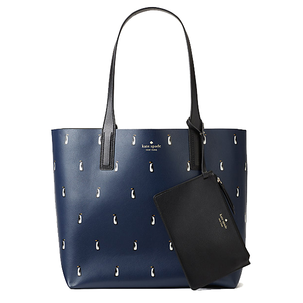 NEW ARRIVAL Kate Spade Arch Penguins Large Reversible Tote