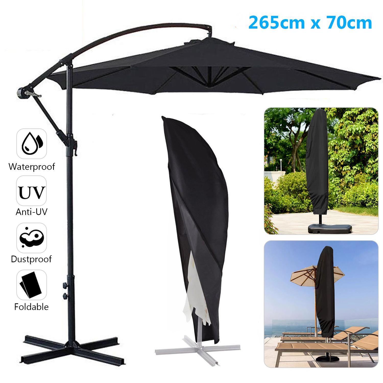 265CM Parasol Waterproof Banana Umbrella Cover Cantilever Outdoor Garden Patio Shield
