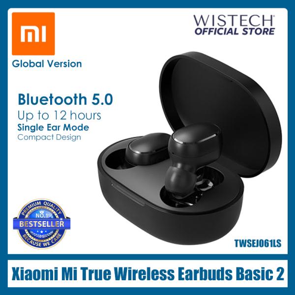 [Global Version] Xiaomi Mi True Wireless Earbuds Basic 2 | Wireless Earphones | Bluetooth, TWSEJ061LS Bluetooth 5.0 Bass Voice Control Wistech Singapore