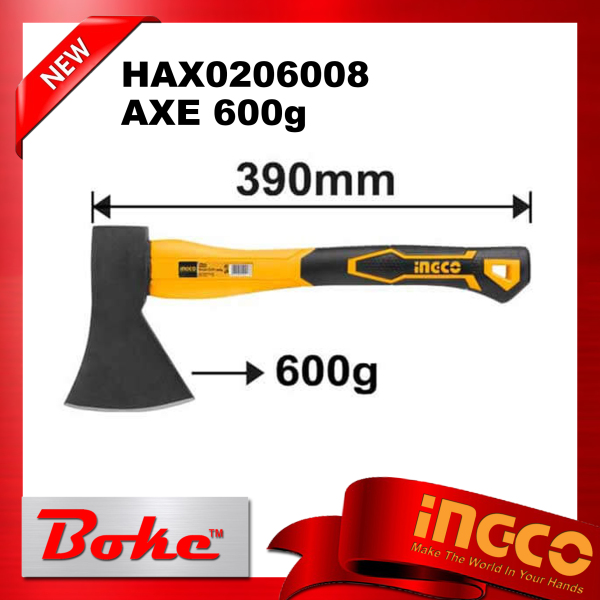 INGCO I-HAX0206008 AXE 600gDrop-forged hammerheadHeat treatment