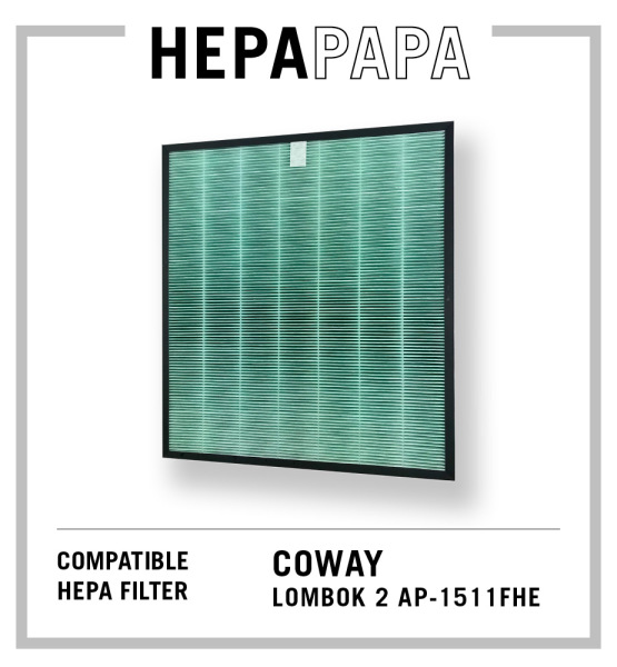 Coway Compatible HEPA Filter for Lombok 2 AP-1511FHE Compatible for Filter Models: AP-1503CH / AP-1510BH [HEPAPAPA] Singapore