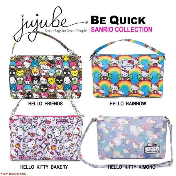 Jujube ∣ Ju-Ju-Be Be Quick, Sanrio Collection [ Hello Rainbow . Hello Kitty Bakery . Hello Kitty Kimono ]