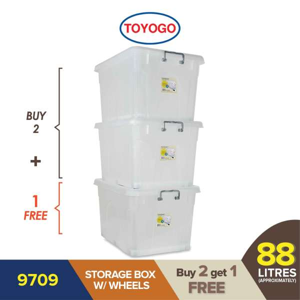 Toyogo (Buy 2 Free 1) Storage Box With Wheels (9709)