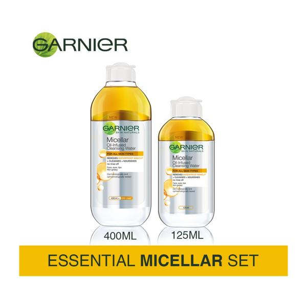 Buy [Essential Micellar Set] Garnier Micellar Water Argan Oil 400ml + 125ml Singapore
