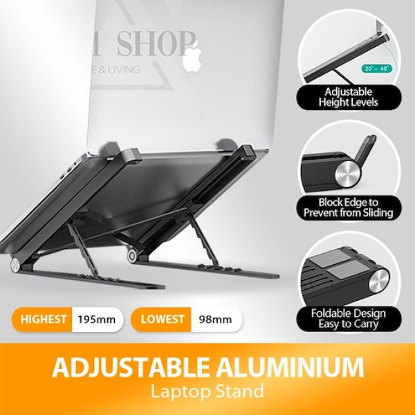 Adjustable Aluminum Laptop Stand / Laptop Stand Adjustable / Laptop Stand Portable / Adjustable Table / Adjustable Laptop Stand / Notebook Standing / Laptop Holder