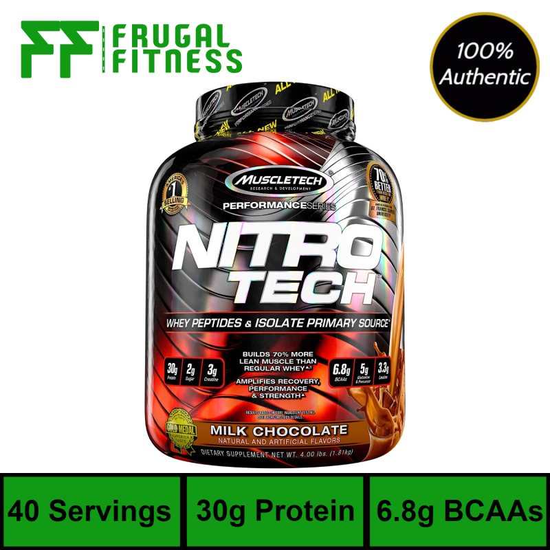 Buy Muscletech NitroTech Whey Protein 4lbs [Various Flavors Available] Singapore