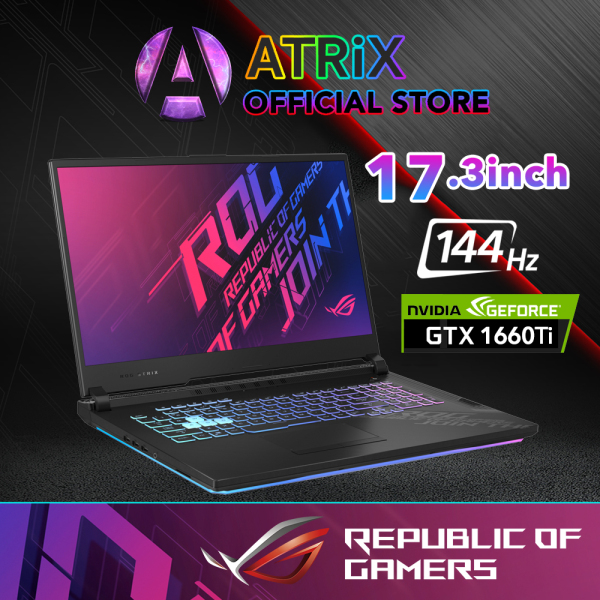 【Same Day Delivery】New ROG 2020 G17 G712LU | 17.3 FHD 144Hz | i7-10750H | 16GB RAM | 1TB SSD | NVIDIA GeForce GTX1660Ti  | 2Yrs ASUS International Warranty | -GTX1660Ti