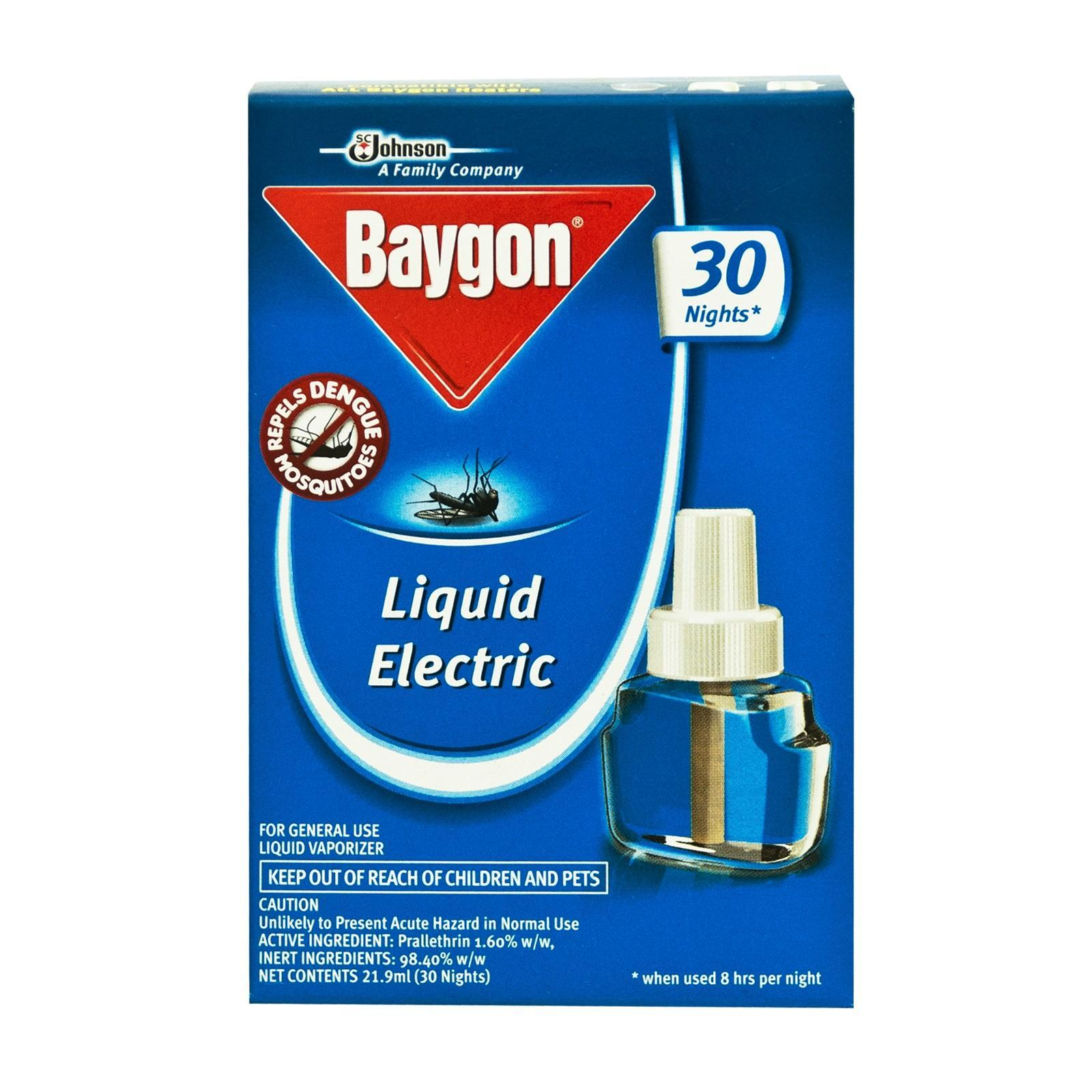 Baygon 30 Nights Liquid Electric Repeller Refill Pack By Redmart.