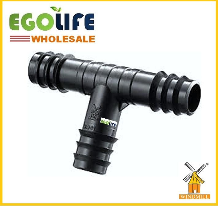 [Wholesale] 100pcs WM311 Windmill Equal Tee 20mm, PP Irrigation Fitting LDPE Polypipe
