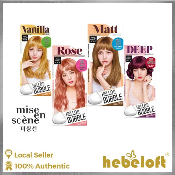 Buy Mise En Scene Hello Bubble Foam Color 60g + 30g, Ammonia Free Hair Dye, Available in Matt Gold 8MG, Rose Gold 11RG, Vanilla Gold 10G, Deep Bordeaux 5BR, K-Beauty - Hebeloft Singapore