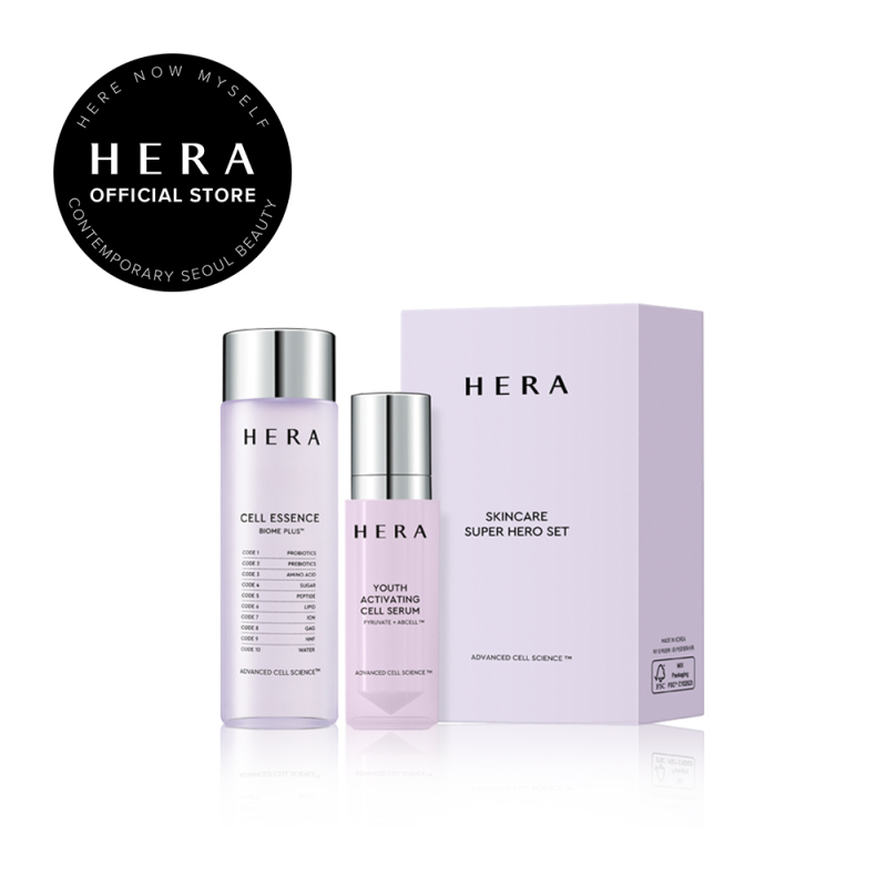 Buy HERA Super Hero Skincare Set (Cell Essence Biome Plus 75ml + Youth Activating Cell Serum 20ml)- Toner and Serum, Moisturizer for Face Singapore
