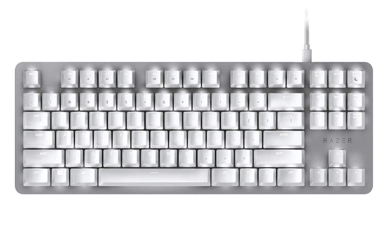 Razer Blackwidow LITE Silent Mechanical Keyboard (Mercury White) Singapore