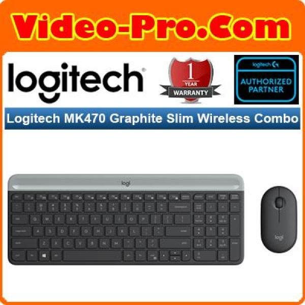 Logitech MK470 Graphite / White Slim Wireless Combo Keyboard and Mouse (1 Year Warranty) Singapore