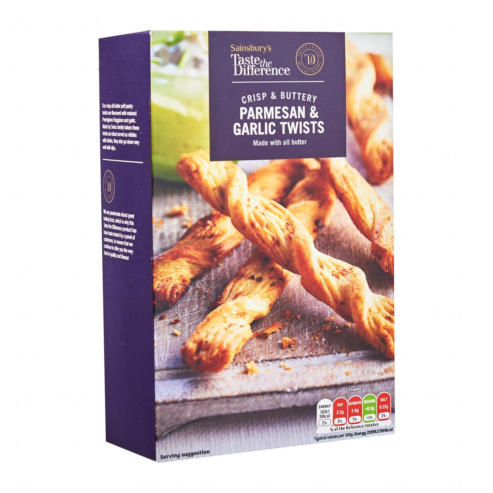 Sainsbury's Taste The Difference Parmesan and Garlic Twists