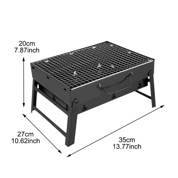 Folding Bbq Grill Portable Barbecue Charcoal Grill Wire Meshes Tools For Outdoor Camping Cooking Picnics Hiking