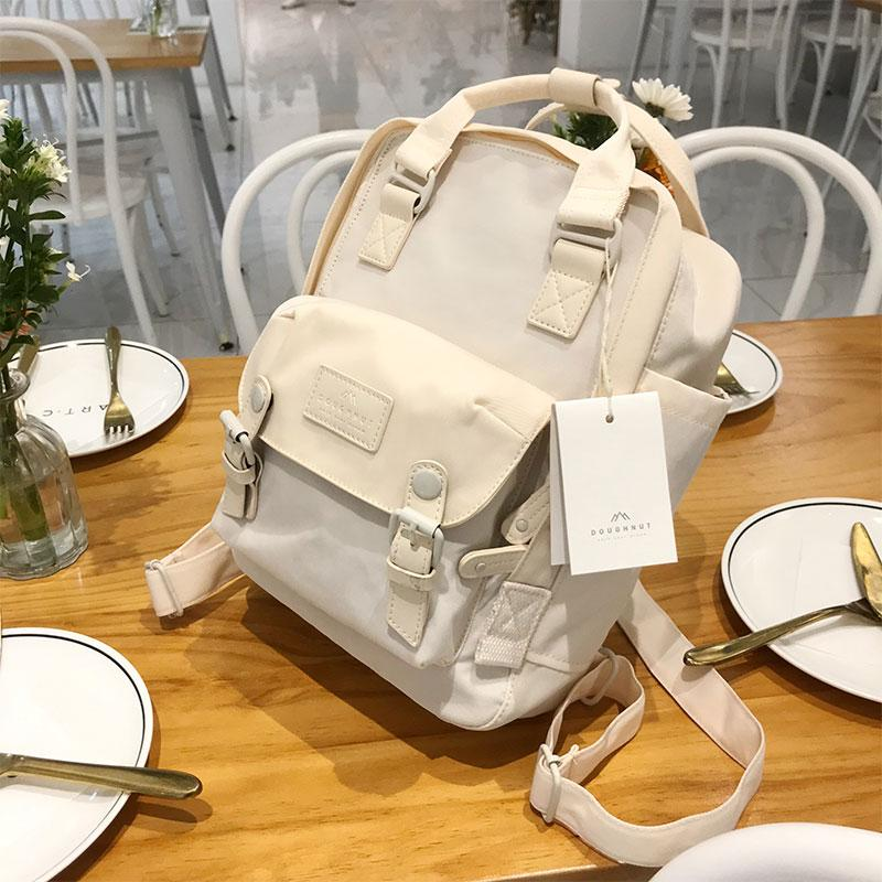 TTQ Backpack Unicorn Doughnut Girls College Student School Bag Campus Travel Forest Small House Celebrity Style Package