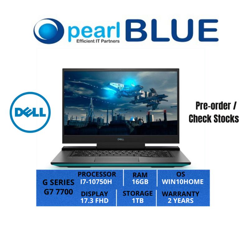 Dell G SERIES | G7 7700 | I7-10750H | 16GB | 1TB | 17.3 FHD | 3.29KGS | WIFI6 | WIN10HOME | 2 YEARS WARRANTY