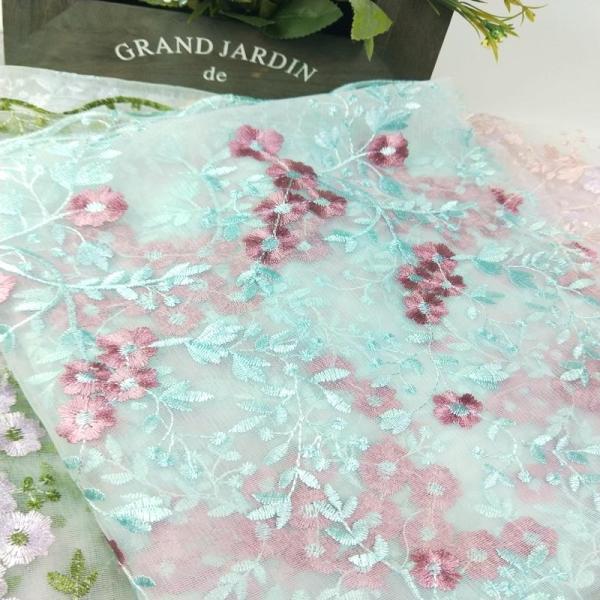 Nhiều Màu 3D Thêu Bông Hoa Mềm Mại Voan Lưới Mềm Hòa Tan Trong Nước Vải Ren Chất Vải Đầm Trang Phục Nguyên Liệu Phụ