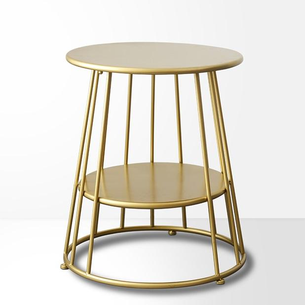 Nordic 2-Tier Carbon Steel Side Table