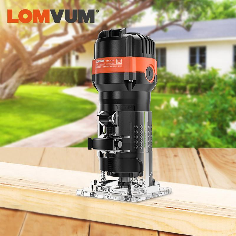 LOMVUM 470W Woodworking Electrict Trimmer Wood Cutting Trimming Machine for Milling Engraving Slotting