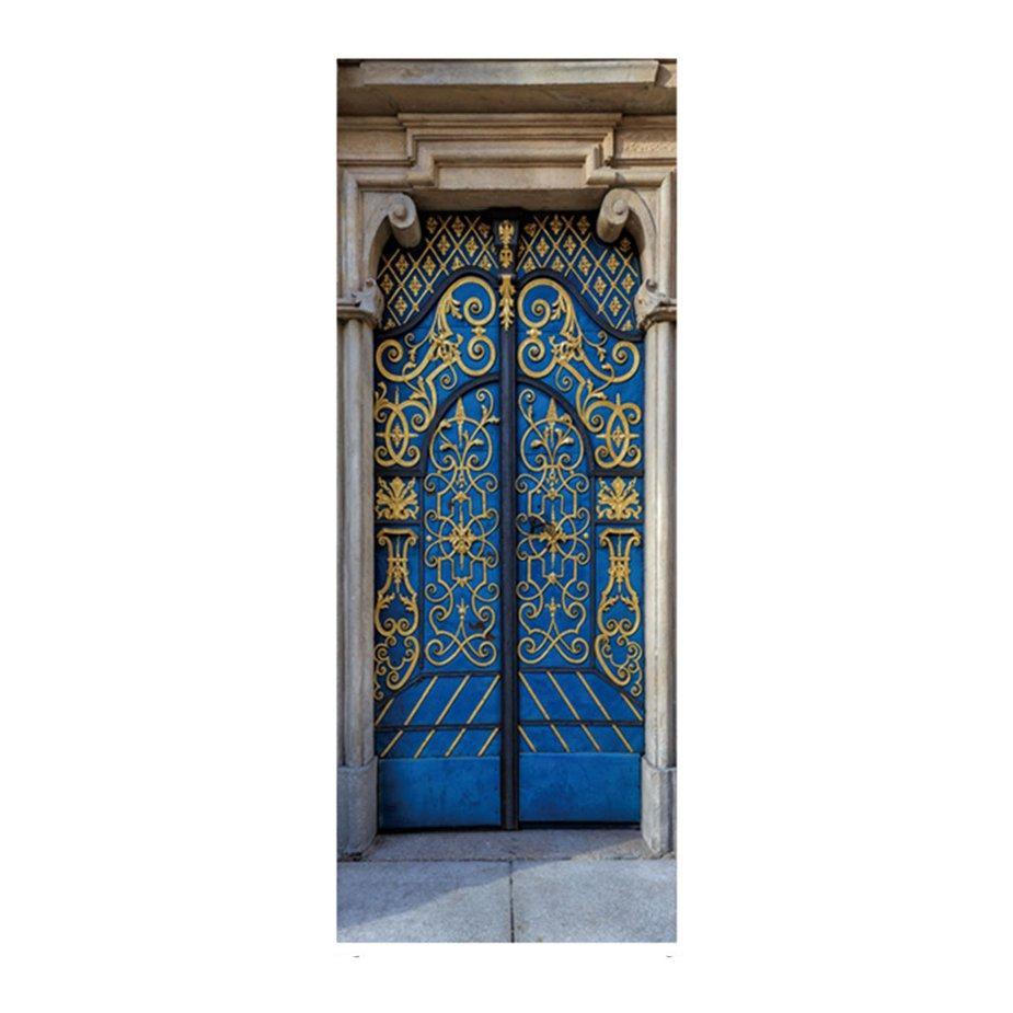 Hot Sale Removable 3D Decals Wall Door Stickers For Home Decoration Door Wallpaper