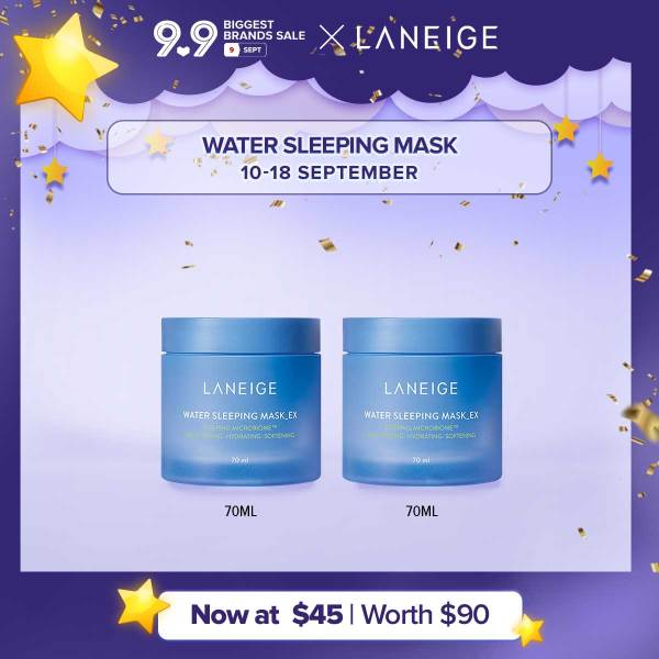 Buy [9.9 BUY 1 GET 1] LANEIGE Water Sleeping Mask EX 70ml-Hydrating Sleeping Mask, Brightens and Purifies Complexion, Revitalizing  Mask Singapore