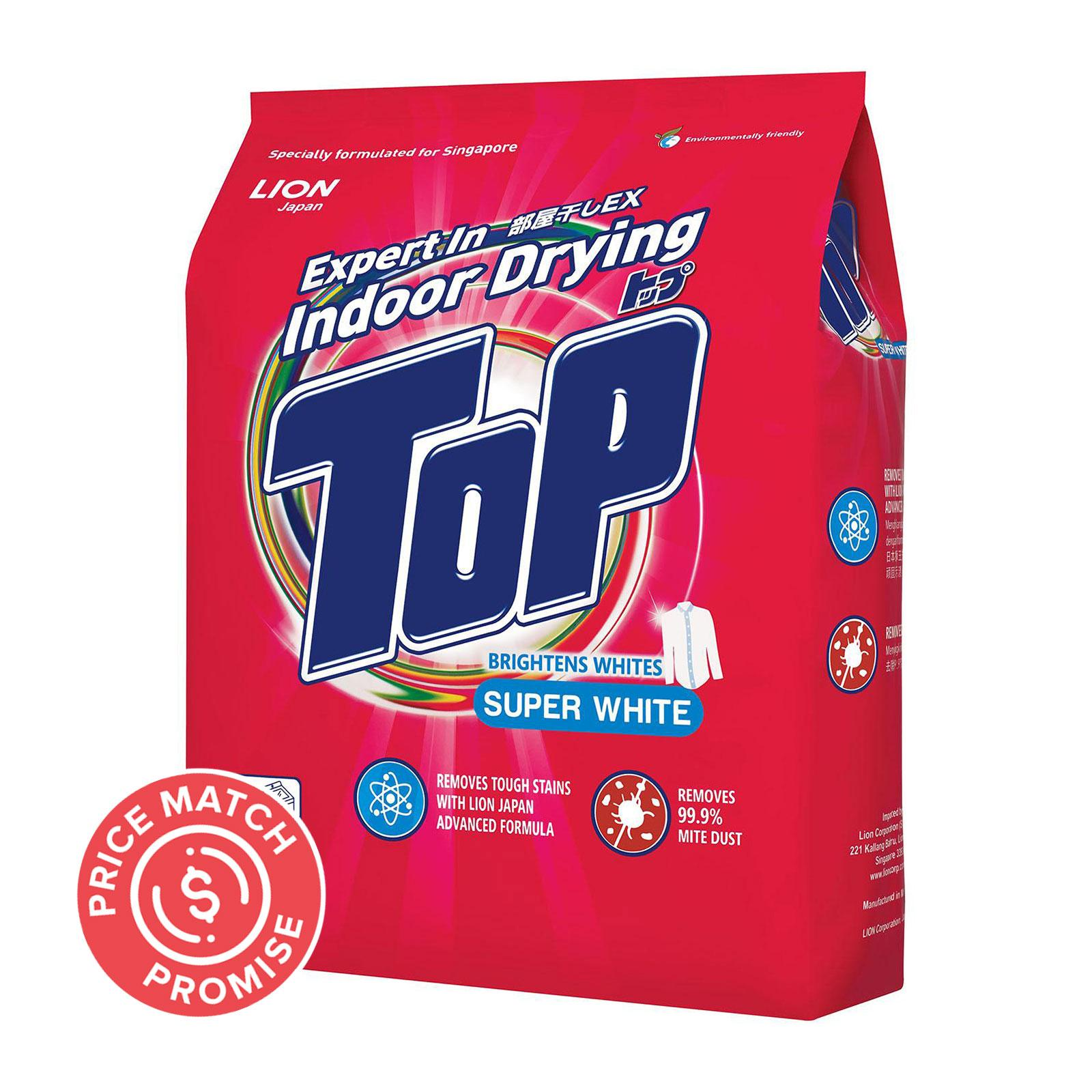 TOP Powder Detergent - Super White 2.5kg