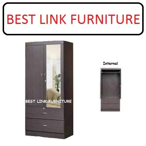 BEST LINK FURNITURE BLF YCM8 2 Open Doors Wardrobe