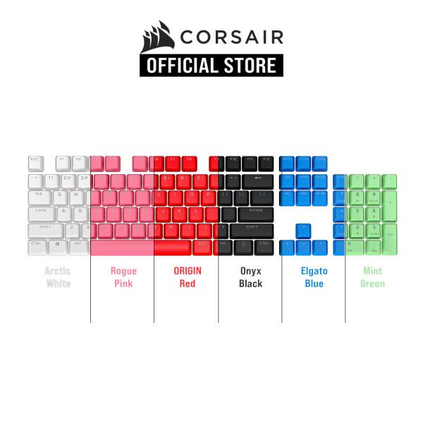 CORSAIR PBT DOUBLE-SHOT PRO Keycap Mod Kit ( Origin Red / Arctic White / Elgato Blue / Mint Green / Onyx Black / Rogue Pink) Singapore