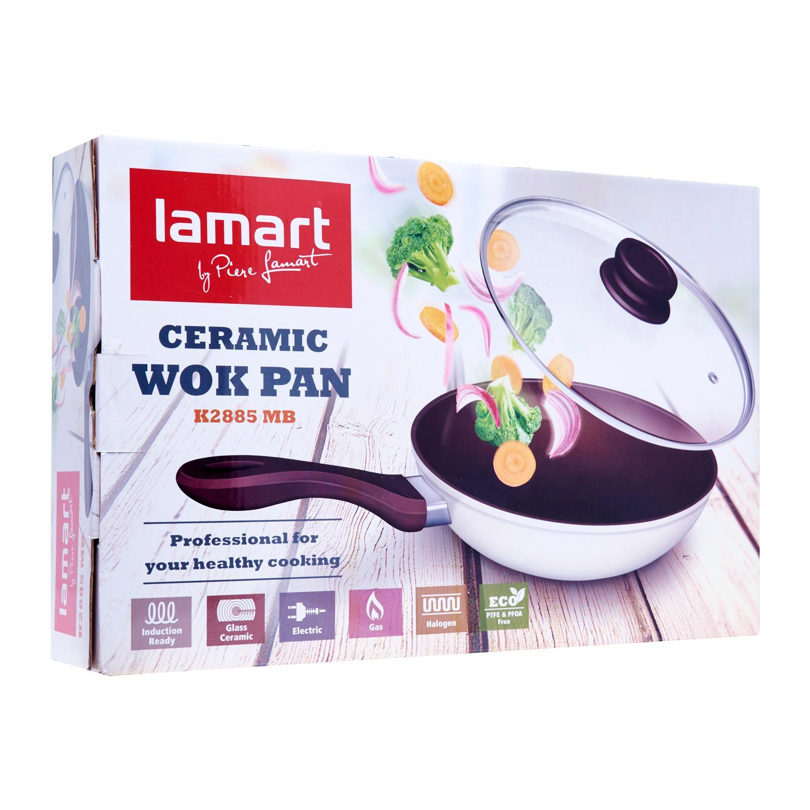 Lamart Induction Ready Ceramic Pan With Glass Lid 28/8.5Cm