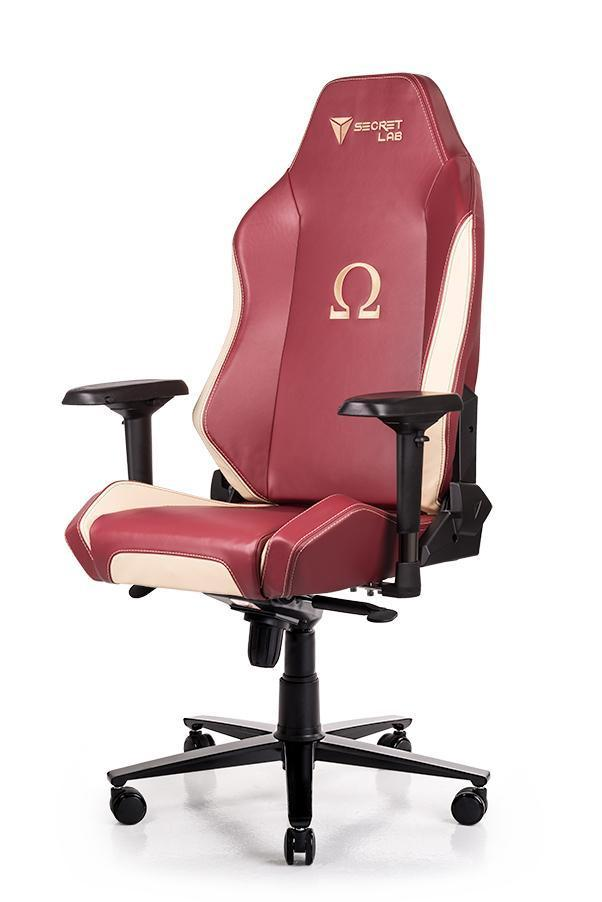 Secretlab OMEGA 2018 Series NAPA Leather Gaming Chair - Wine Red w Cream NAPA