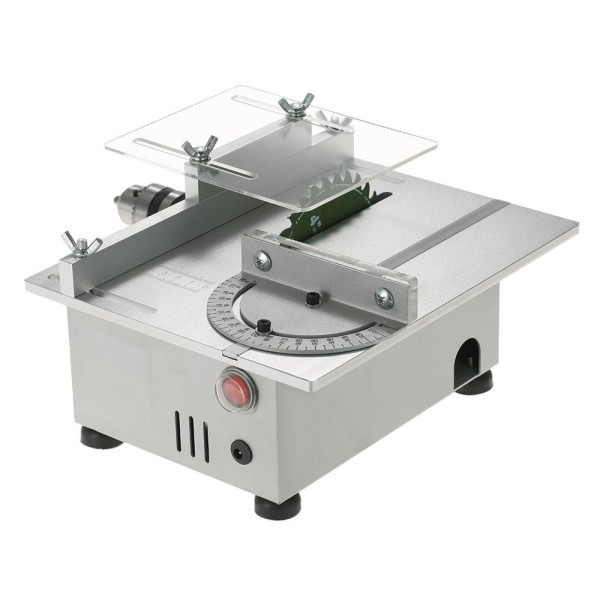 100W Mini Table Saw Aluminum Miniature DIY Multi-function Woodworking Bench Saw 7000RPM PCB Cutter Carpentry Chainsaw Cutting Machine Precision Model Saws DC 12-24V