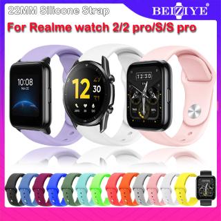 Realme Watch 2 pro Đồng hồ thông minh Dây đeo bằng silicon cho đồng hồ realme S Pro S smartwatch Band Bracelet cho Realme Watch 2 Sport Bracelet Wristband thumbnail