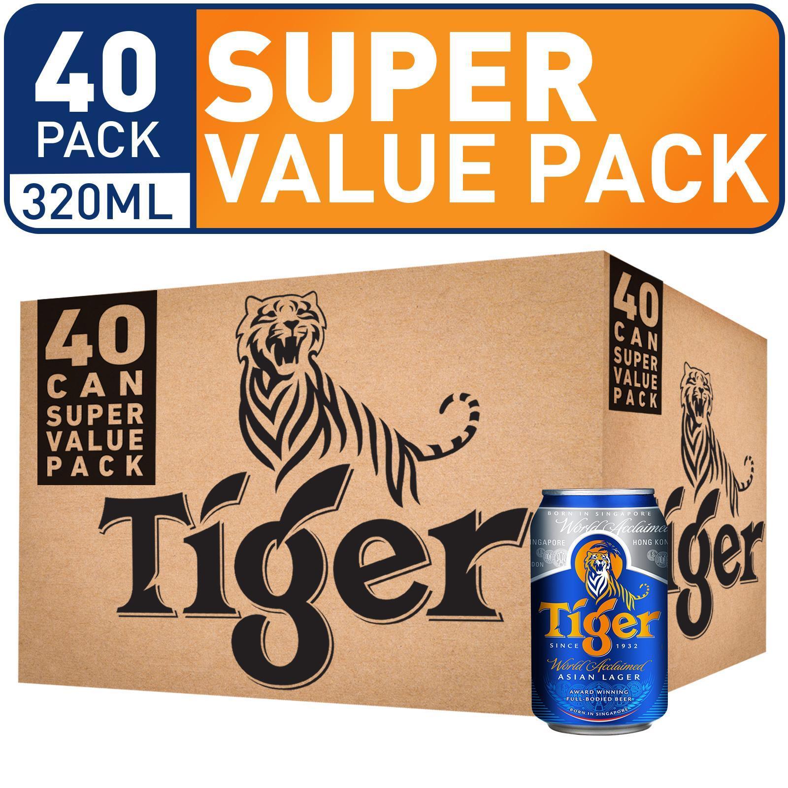 Tiger Beer Super Value Pack - 40x320ML