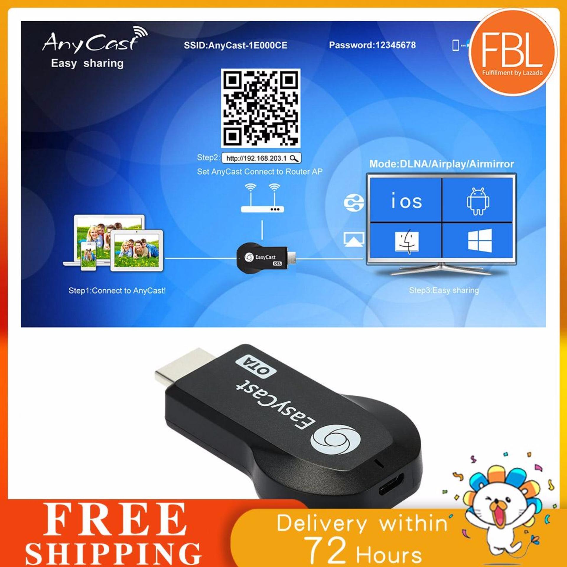 【Flash Sale+Free Shipping】EasyCast TV Stick Full HD 1080P WiFi Wireless  Display Receiver Dongle HD TV Mini PCOTA Miracast DLNA Airplay