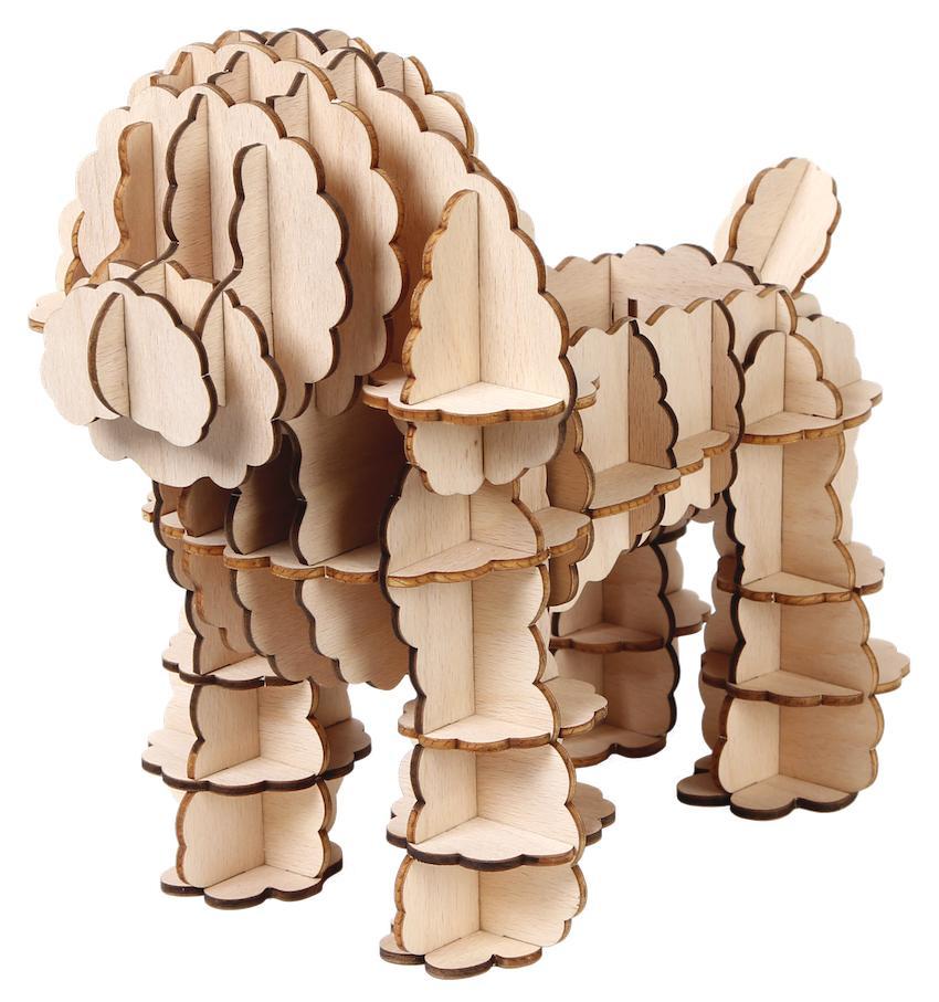 JIgzle Plywood Home- Toy Poddle Orangizer